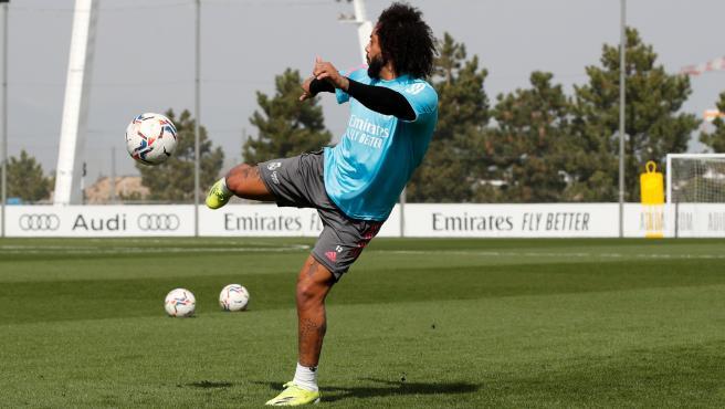 Marcelo, durante una sesión de entrenamiento.