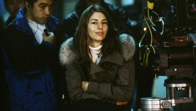 Sofia Coppola en el set de rodaje