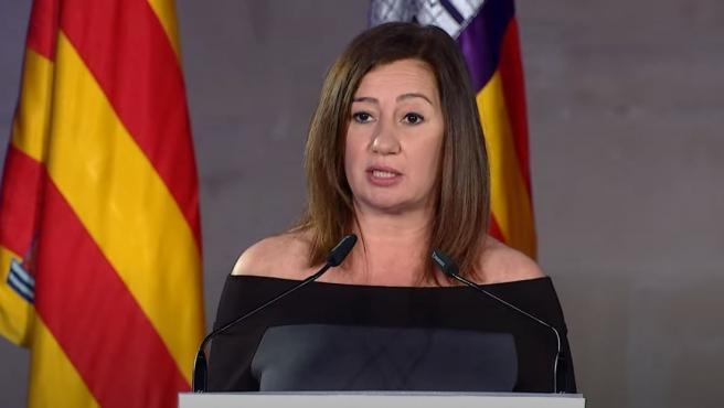 La presidenta del Govern, Francina Armengol, en el acto institucional del Día de Baleares.
