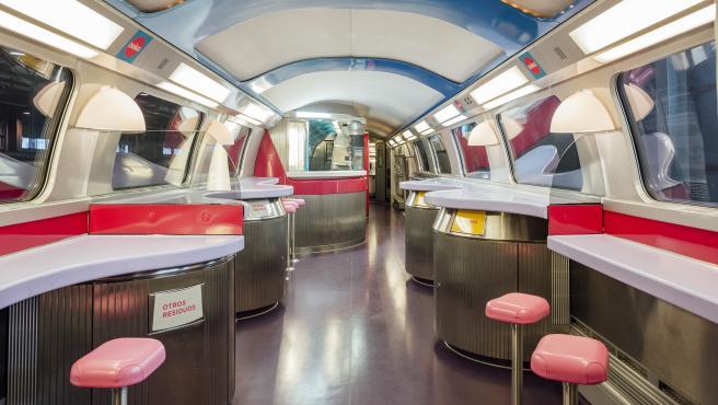 Cafetería de un tren de Ouigo.