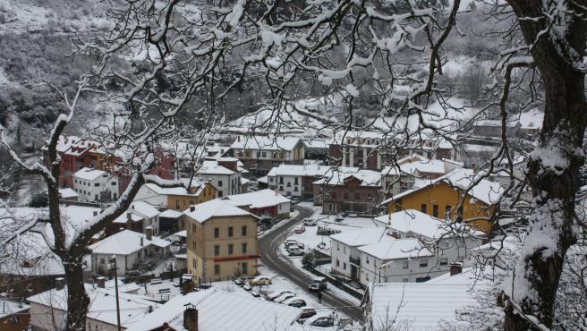 Archivo - Nieve en Asturias
