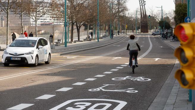 El paseo Echegaray incorporará ciclocarril en su trazado para  descongestionar el carril bici existente