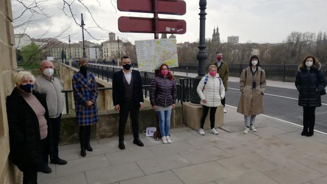 El PP critica las obras del Puente de Piedra en Logroño