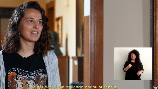 Imagen del vídeo de la ilustradora Inma Ramos, con motivo de la campaña del 8M de la Diputación de Cáceres