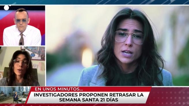 La escritora Tatiana Ballesteros, autora de un vídeo viral sobre la pandemia, interviene en 'Todo es mentira'.