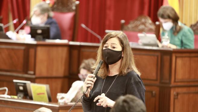 Archivo - La presidenta de Baleares avanza que 'pasarán toda la información' al Parlamento Europeo sobre los menores explotados