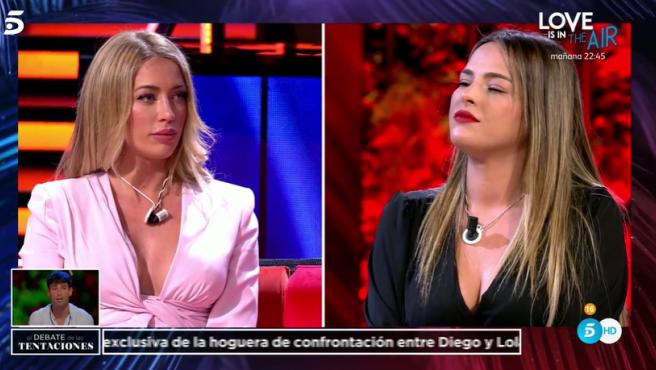 Mayka y Marta, en el debate de 'La isla de las tentaciones'.