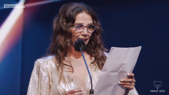 Victoria Abril recibe el Feroz de honor 2021