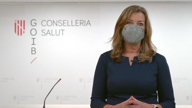 Archivo - La consellera de Salud y Consumo, Patricia Gómez, en un vídeo dirigido a la población.