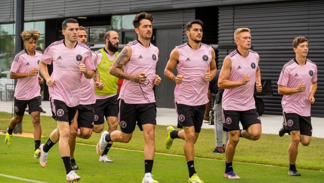 Entrenamiento del Inter de Miami, con Higuaín entre ellos