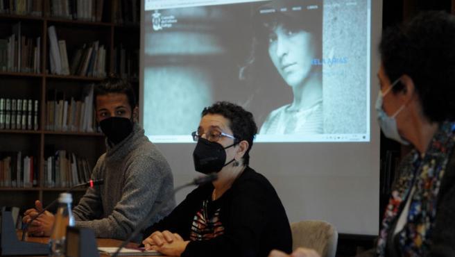La presidenta del Consello da Cultura Galega, Rosario Álvarez, en rueda de prensa sobre Xela Arias