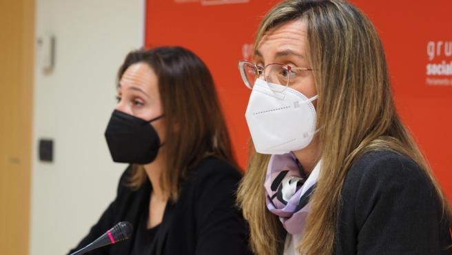 Las diputadas del PSdeG en la Cámara gallega Noa Díaz y Paloma Castro