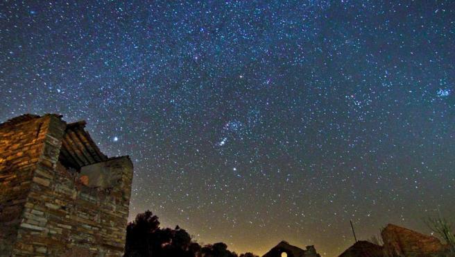 Cielo estrellado en Minas del Centenillo, en Jaén.