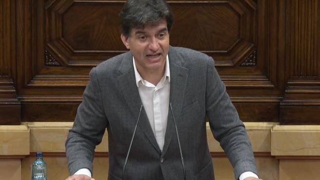 Sergi Sabrià (ERC) en la Diputación Permanente del Parlament.