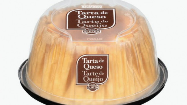 Tarta de queso individual de Hacendado.
