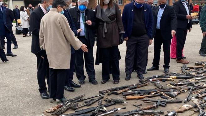 La vicelehendakari segunda del Gobierno Vasco en el acto de destrucción de armas de ETA y otros grupos terroristas