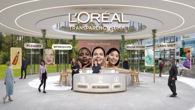 Imagen del Congreso de trasparencia de L'oréal, celebrado el 4 de marzo en París y retransmitido por vía telemática