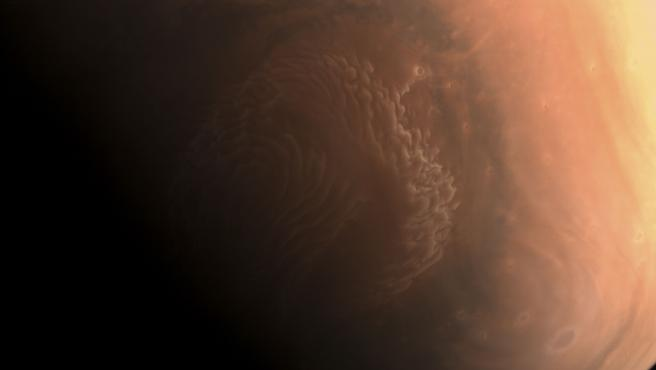 Marte captado por la sonda china Tianwen-1.