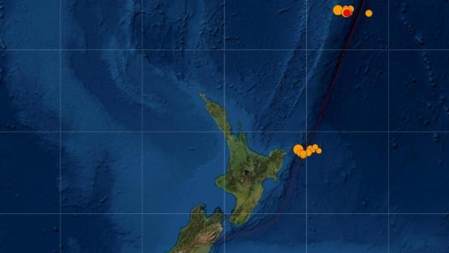 Terremotos en Nueva Zelanda.