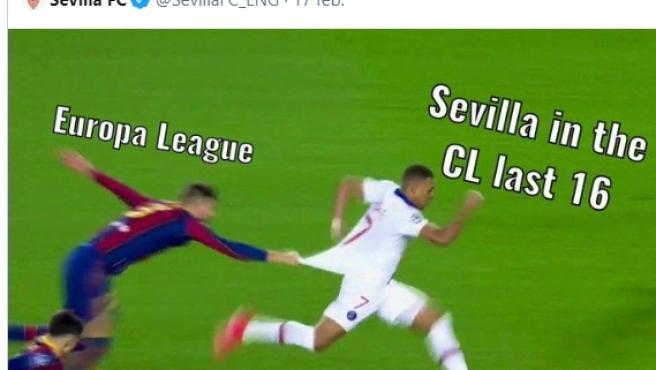 El tuit del Sevilla al que responda el Barça.