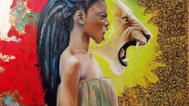 'Roar like a woman, de Laura Casaus, una de las artistas dentro del Club de las Mujeres (in)visibles.