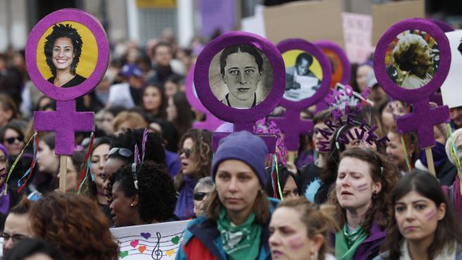 8 de marzo de 2020, manifestación en Madrid.