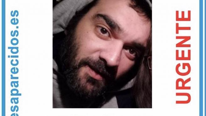 Cartel del desaparecido Alejandro Meitín de Viveiro (Lugo). SOS DESAPARECIDOS