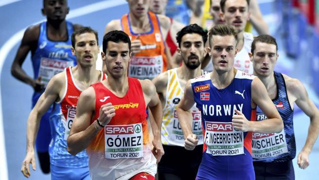 Jesús Gómez (iz), durante los Europeos de Atletismo de Torun