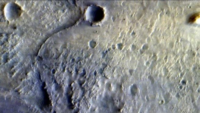 Lugar de aterrizaje del rover Perseverance en Marte.