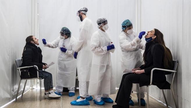 Test de coronavirus en Italia.