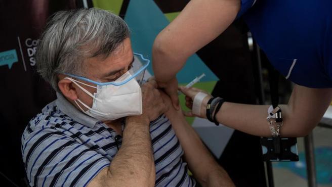 Imagen de archivo de la vacunación contra el coronavirus en Chile.