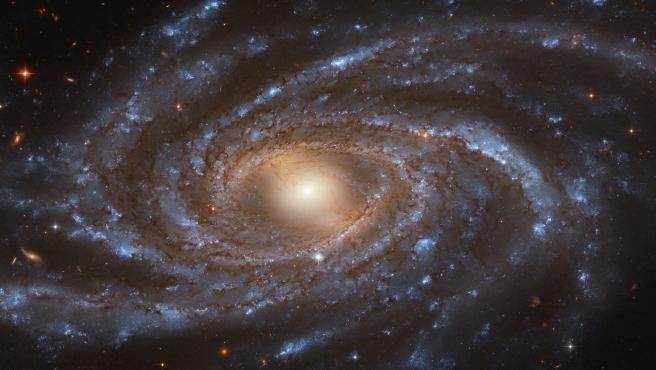Galaxia en espiral captada por el telescopio Hubble.