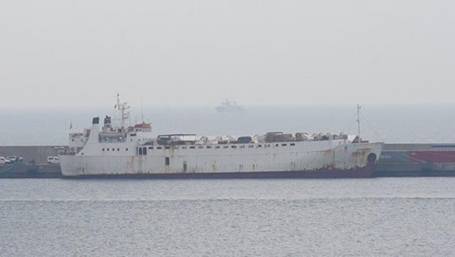 El buque Karim Allah en la Dársena de Escombreras.