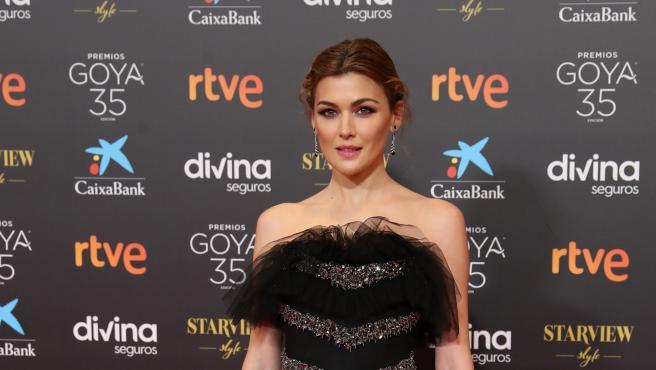 La actriz Marta Nieto en la alfombra roja de los Premios Goya 2021.