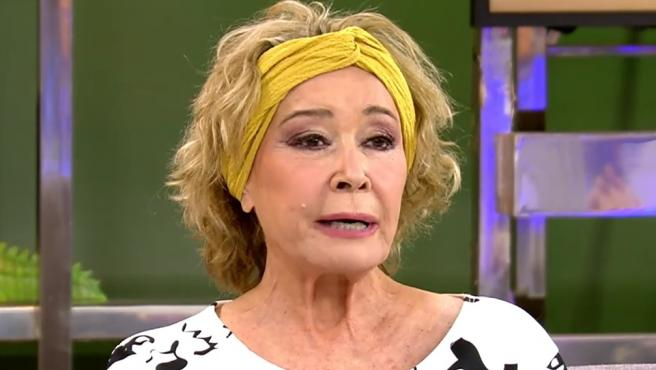 Mila Ximénez, en su reaparición en 'Sálvame'.