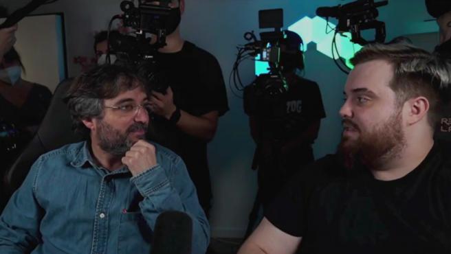 Jordi Évole, entrevistando a Ibai Llanos.