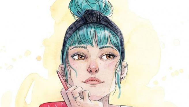 Ilustración de portada de la novela gráfica 'Voces que cuentan'.