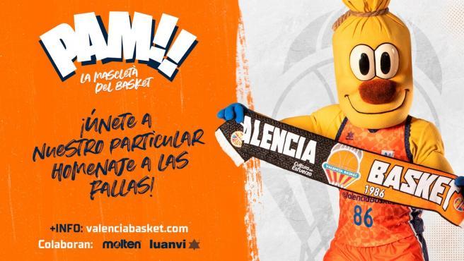 Cartel de la campaña 'PAM La mascletà del basket'