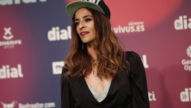 La cantante Bebe en la gala de los Premios Cadena Dial.