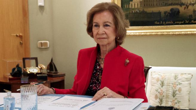 La reina Sofía preside la reunión anual de la junta de patronos de la Escuela Superior de Música Reina Sofía.