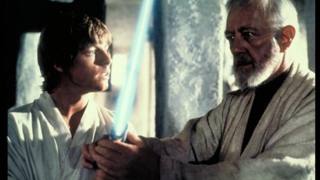 Mark Hamill y Alec Guinness