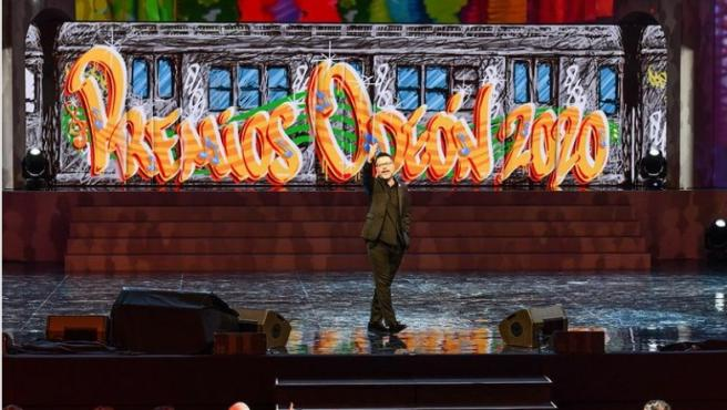 El humorista Quequé en los Premios Odeón 2020.
