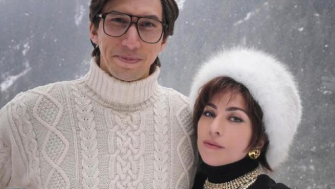 Adam Driver y Lady Gaga en 'House of Gucci'