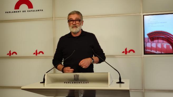 El diputado electo de la CUP Carles Riera
