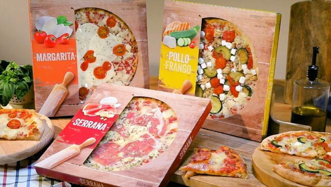Nuevas pizzas frescas Hacendado: Margarita, Serrana y Pollo.