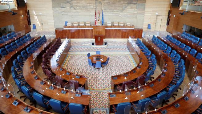 Vista del hemiciclo de la Asamblea de Madrid.