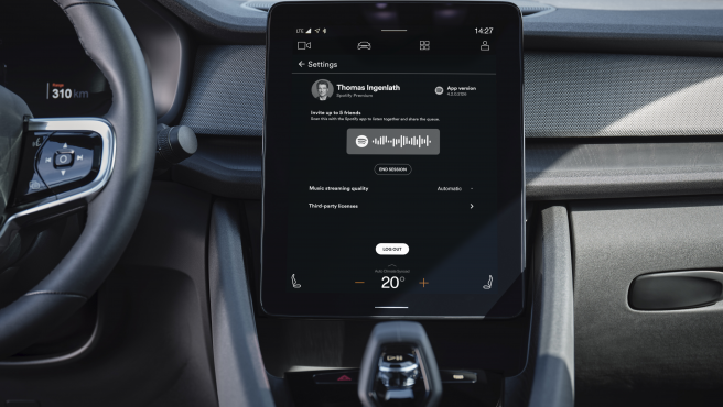 Polestar 2 now features Spotify Group Sessions Beta directly in its built-in Spotify app.