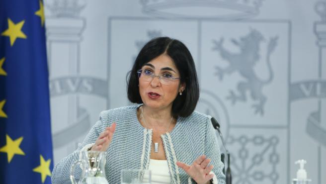 La ministra de Sanidad, Carolina Darias, en una imagen de archivo.