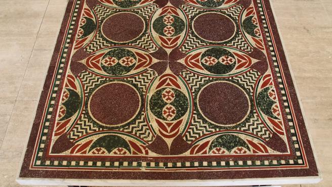 El mosaico perdido de Calígula, expuesto en el Museo de Nemi (Italia).
