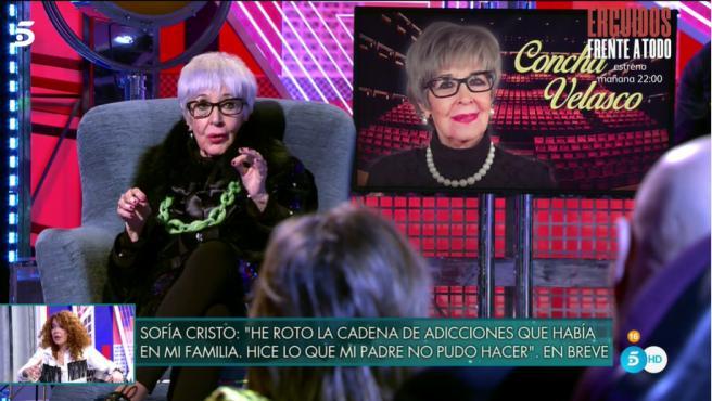 Concha Velasco, en 'Sábado Deluxe'.
